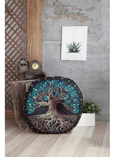 home-bath Dekoratif Yer Minderi Yggdrasill Renkli
